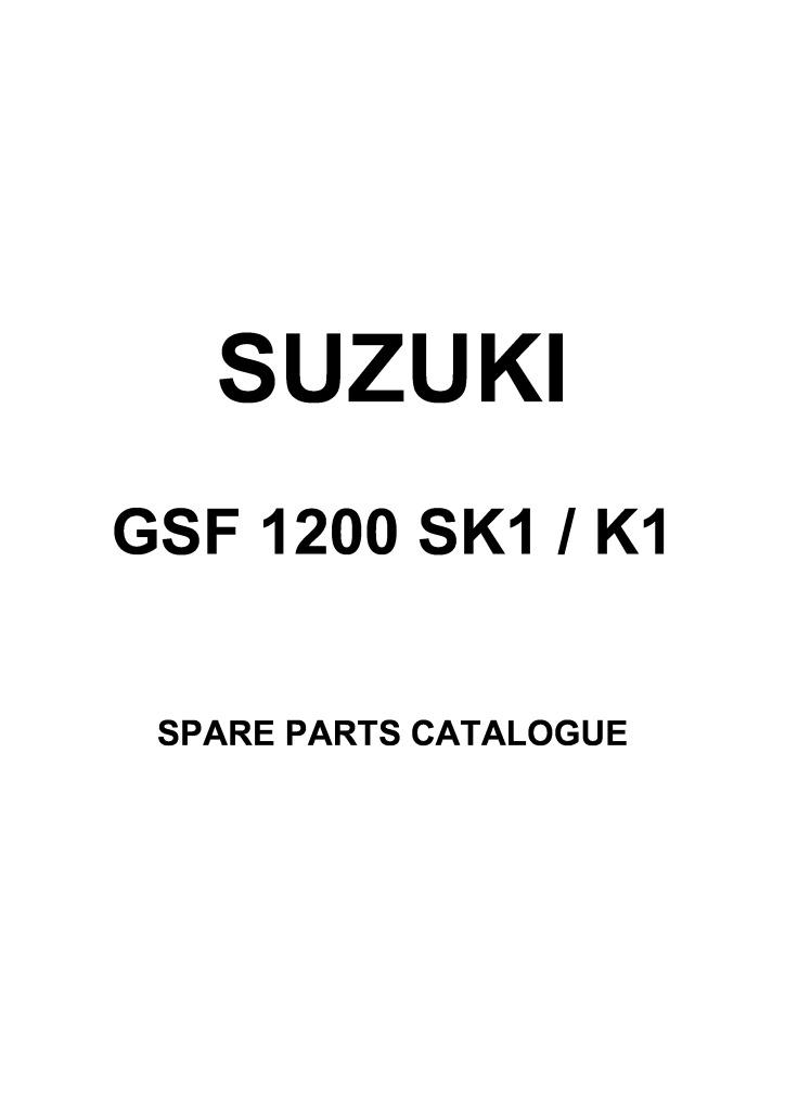 Gsf 1200 Bandit Sk1 K1 2001 Parts List Catalogue Pdf  2 94 Mb