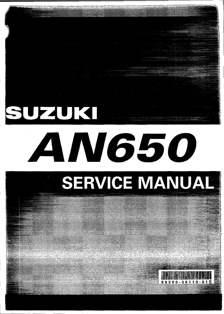 Suzuki An 650 Burgman Service Manual Pdf  28 5 Mb
