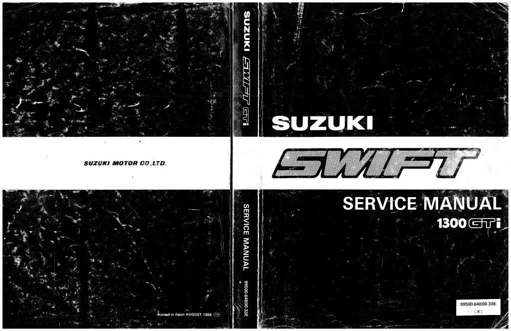 1999 Suzuki Swift Gti Service Manual Pdf  129 Mb