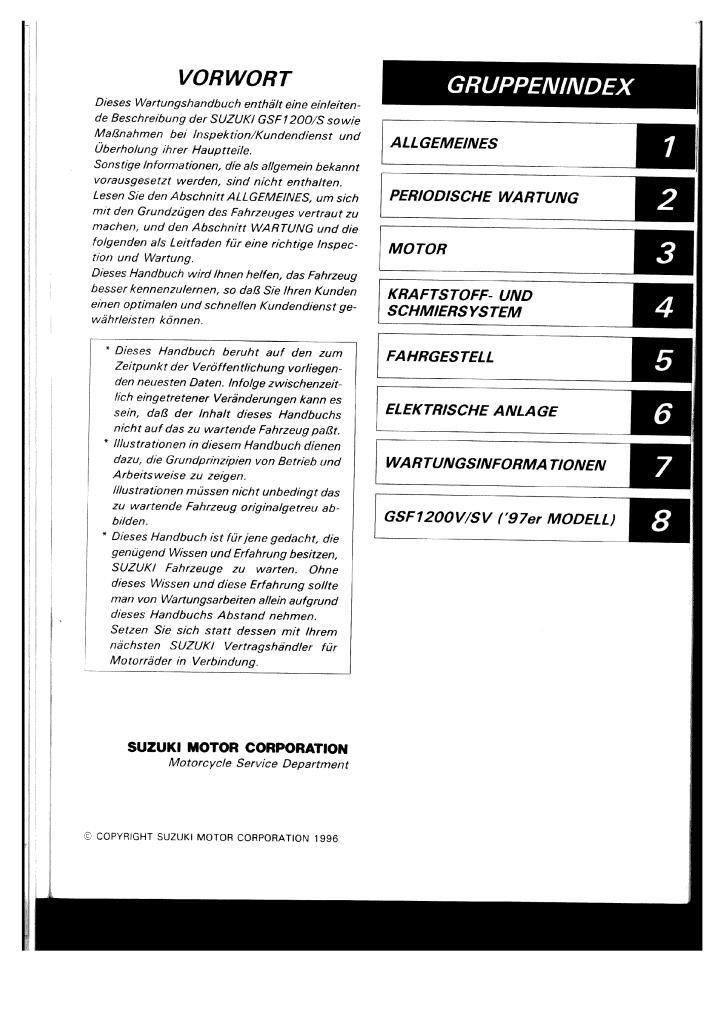 Gsf1200 S Bandit 1996 1997 Service Manual German Pdf  38 2 Mb