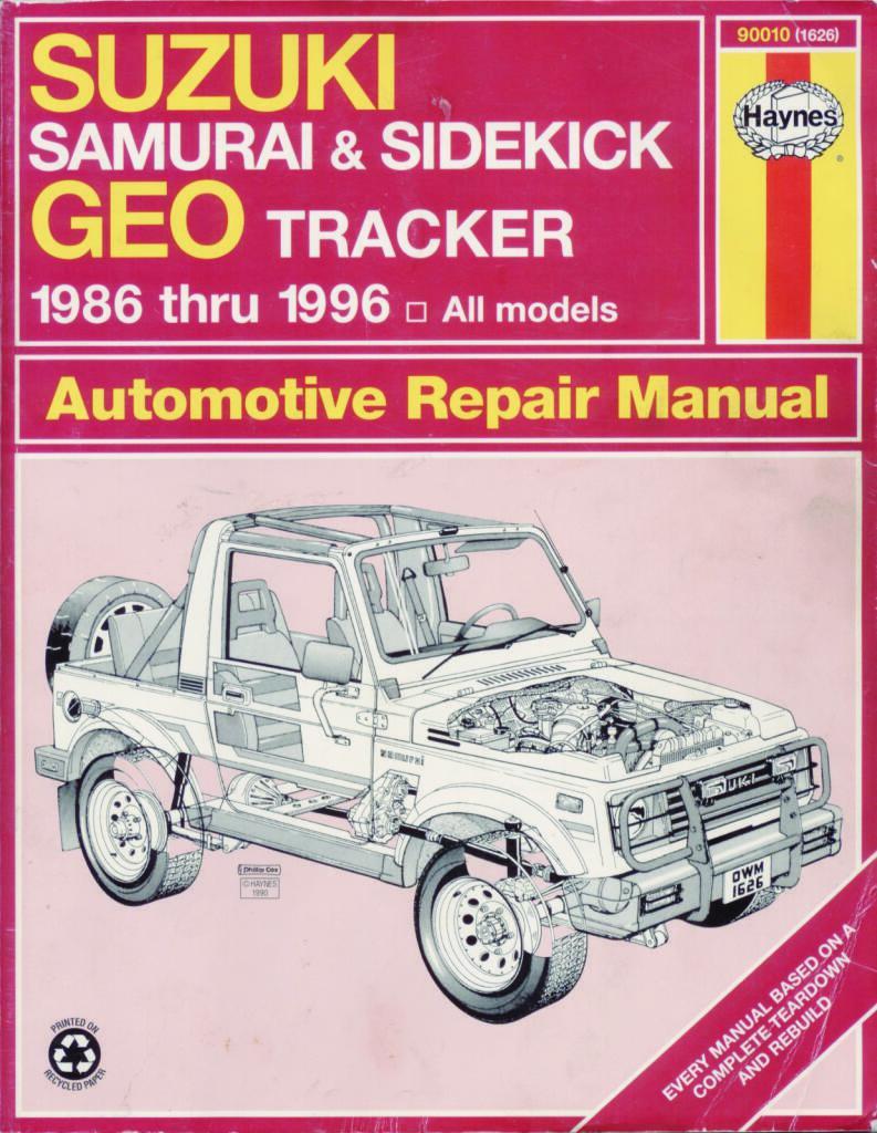 Samurai Haynes Repair Manual Pdf  64 4 Mb