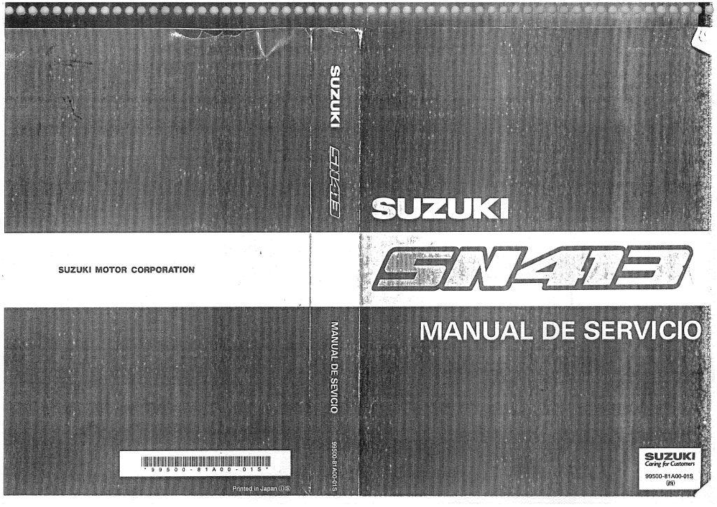 1999 Suzuki Jimny Sn413 Service Manual Pdf  49 6 Mb